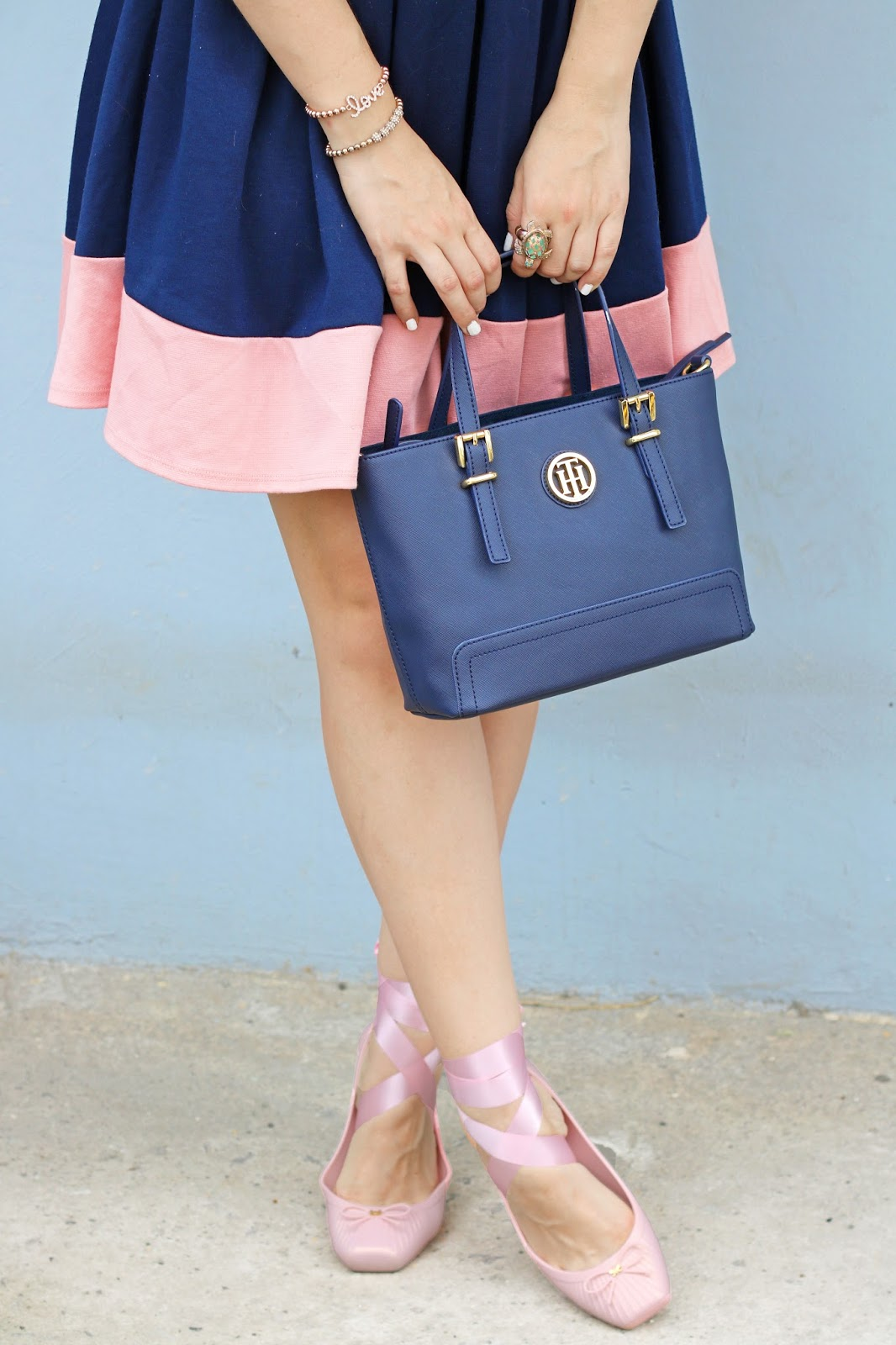 I am obsessed with these adorable pink lace up ballerina flats!