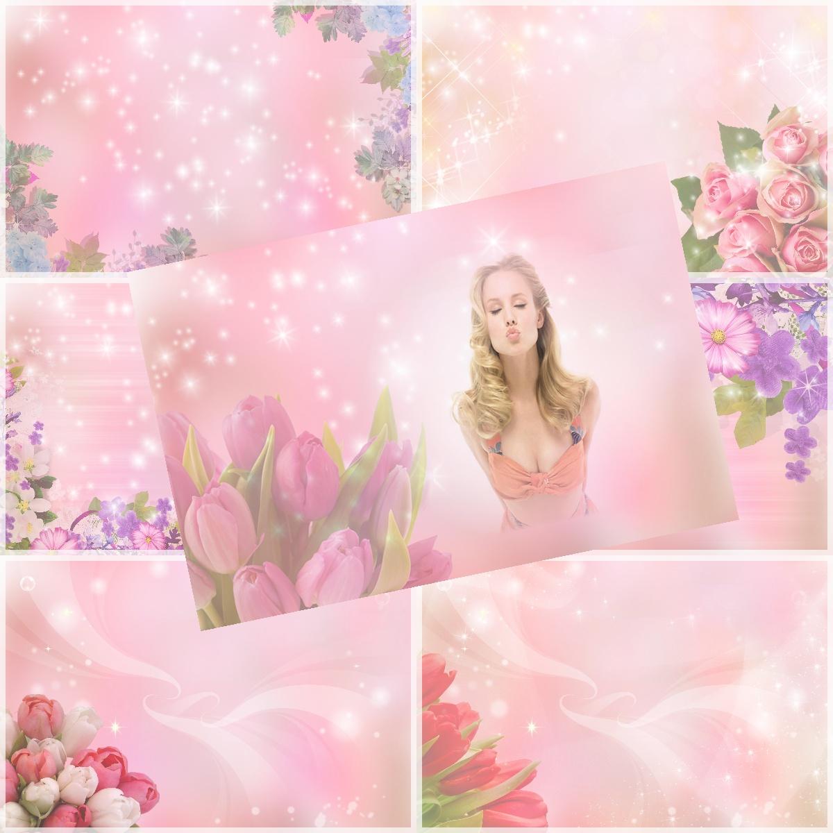 Fondos Florales Tonos Rosas Hd Fotomontajes Accionglobalxsoft
