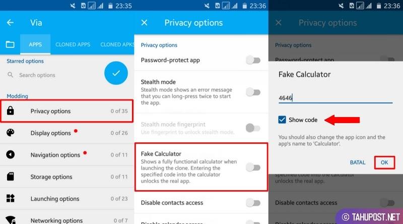 Atur Kata Sandi Aplikasi - Cara Mengubah Aplikasi Android Menjadi Fake Calculator