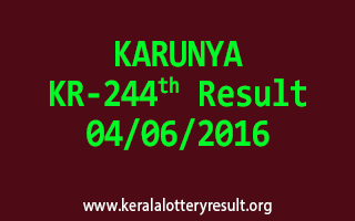 KARUNYA Lottery KR 244 Results 4-6-2016