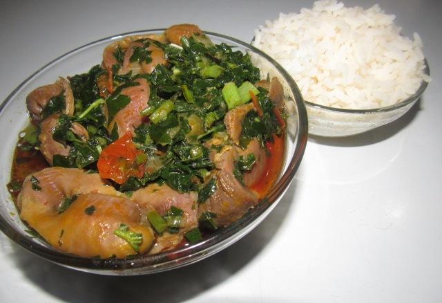 Nigerian gizzard stew