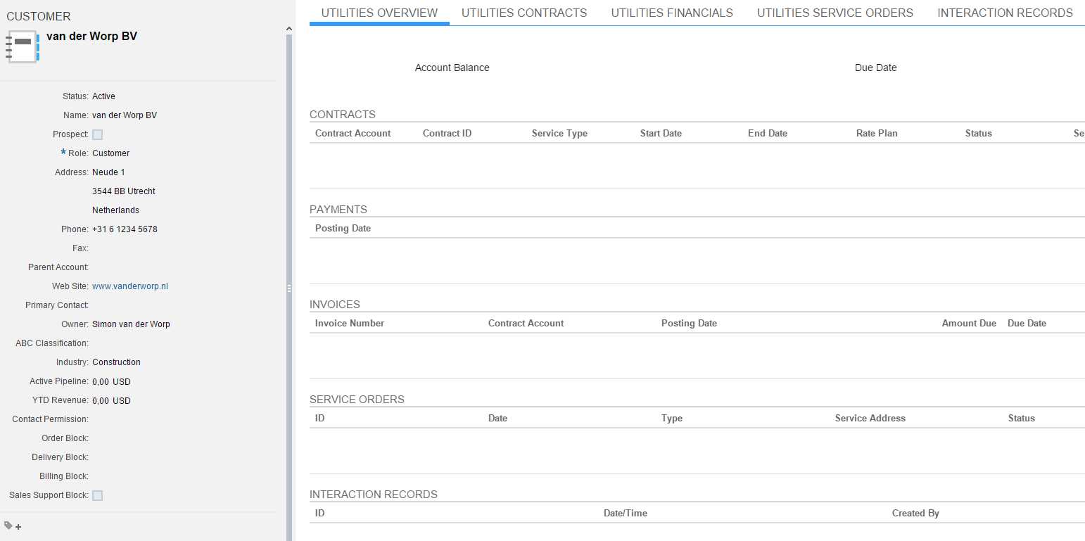 Call Center and Customer Service for Utilities in SAP Cloud