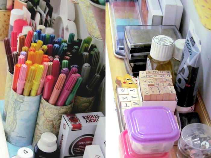 colori inchiostro e stampi