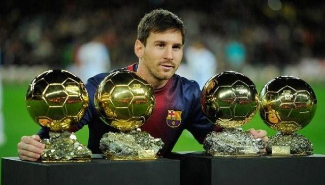 Messi es el único jugador que ha conseguido cuatro balones de oro consecutivos