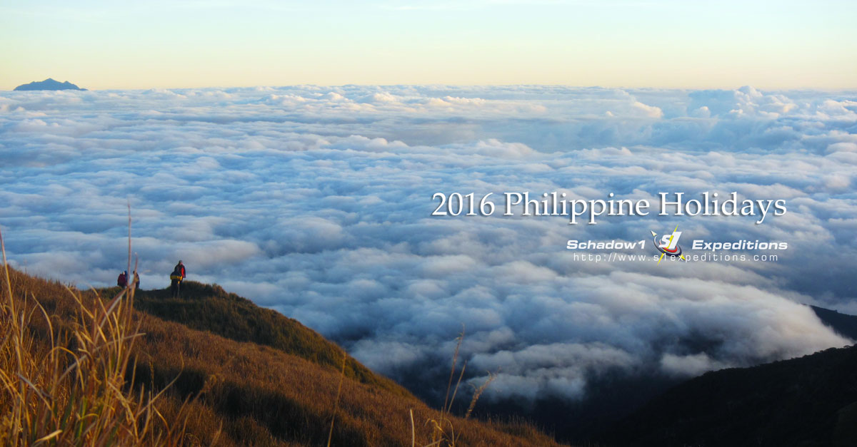 2016 Philippine Holidays - Schadow1 Expeditions