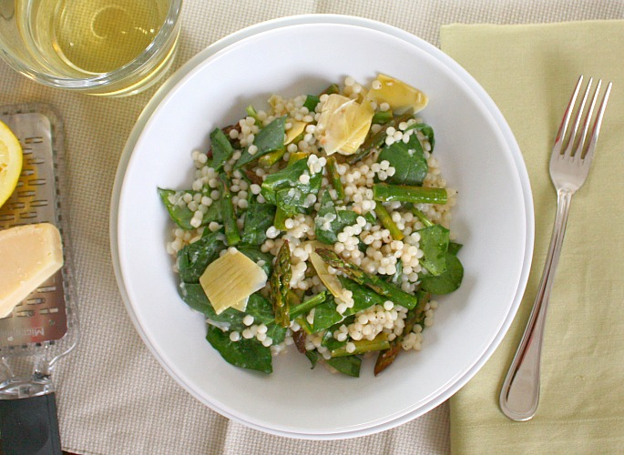 asparagus artichoke couscous