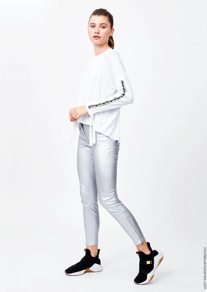 Pantalones metalizados otoño invierno 2019.