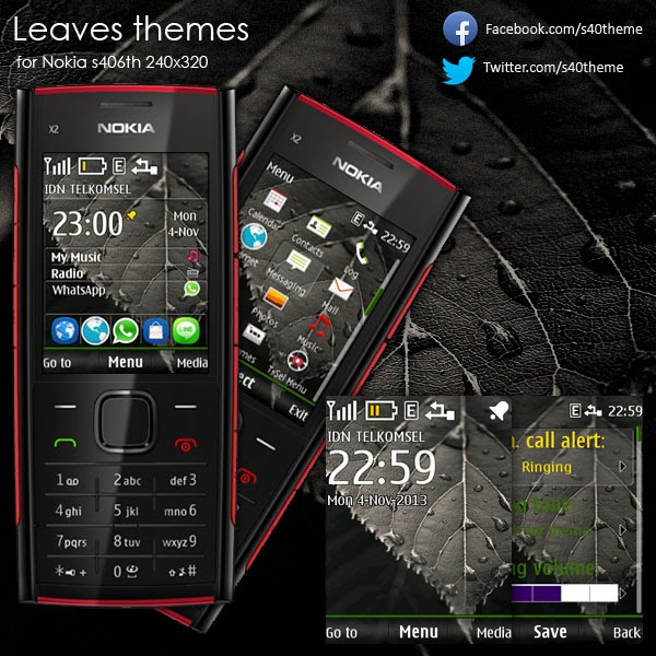 Leaves theme for Nokia s406th 240x320