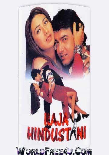 Poster Of Hindi Movie Raja Hindustani (1996) Free Download Full New Hindi Movie Watch Online At worldfree4u.com