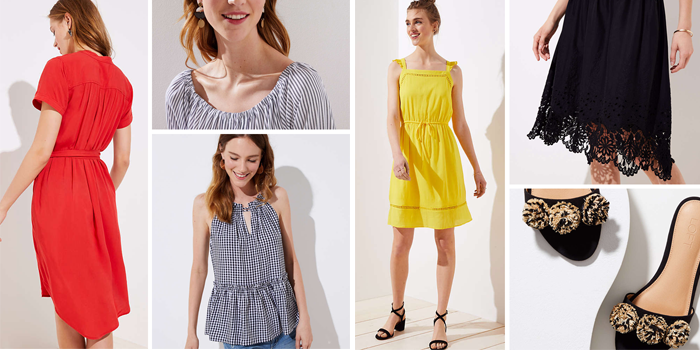 summer sales gingham tops