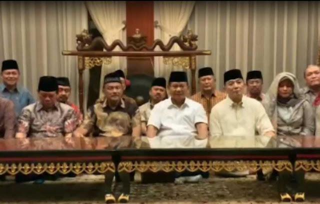 KPU Umumkan Jokowi Menang, Prabowo: Hak Rakyat Diperkosa