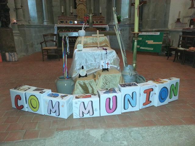 panneau de première communion