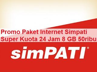 Promo Paket Internet Simpati Super Kuota 8 GB 50 Ribu