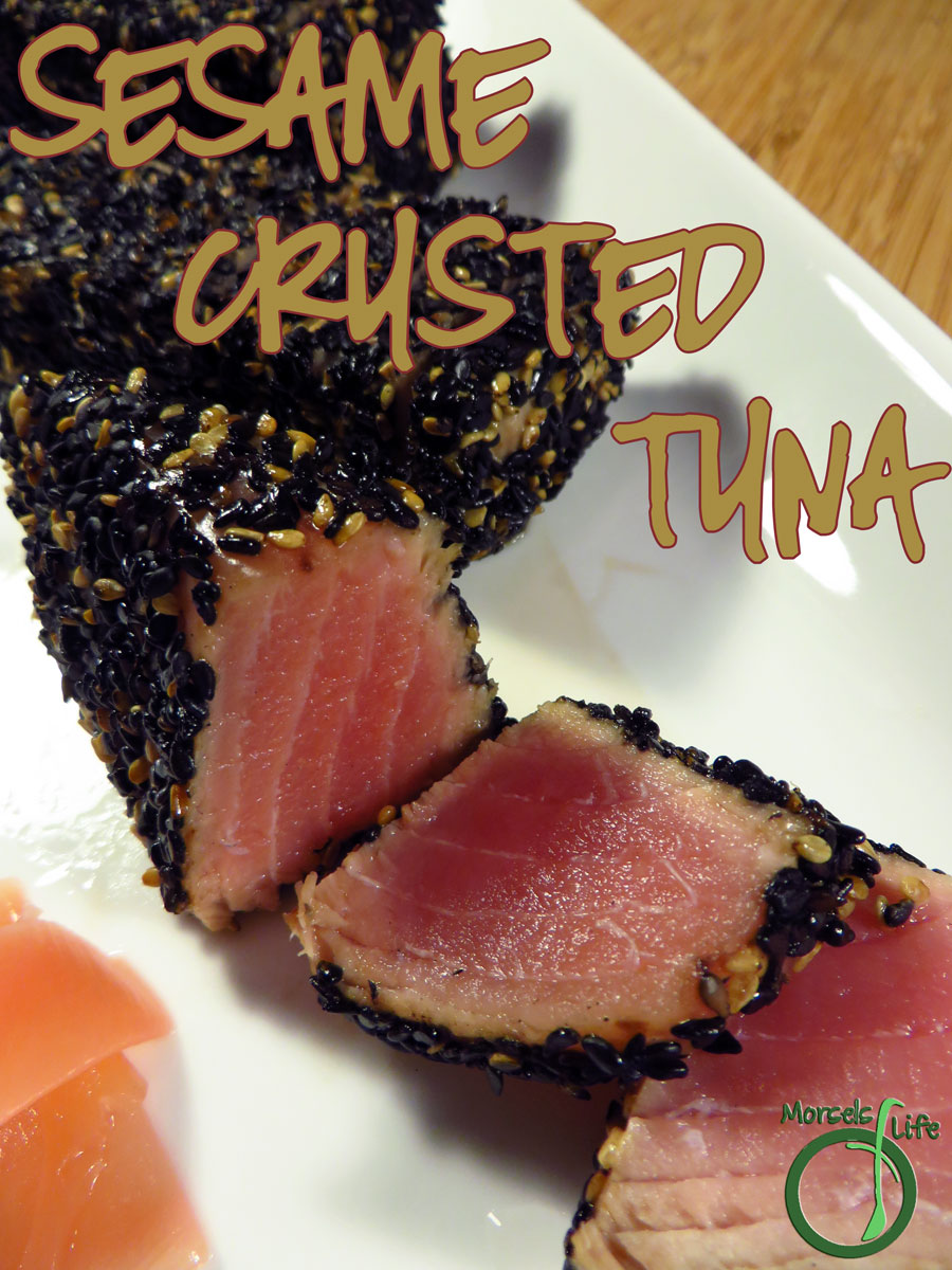 Morsels of Life - Sesame Crusted Tuna - Easy and yummy - try this sesame crusted tuna steak with an Asian inspired ginger carrot sauce!
