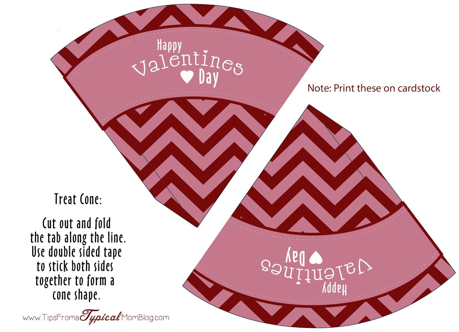 Free Valentines Day Chevron Party Printables