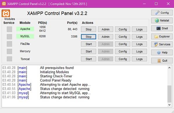 XAMPP v3.2.2