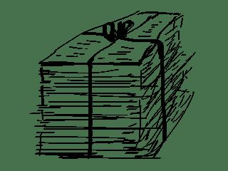 Pilha de Documentos sobre Os Escravos