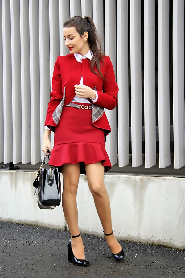 red preppy outfit