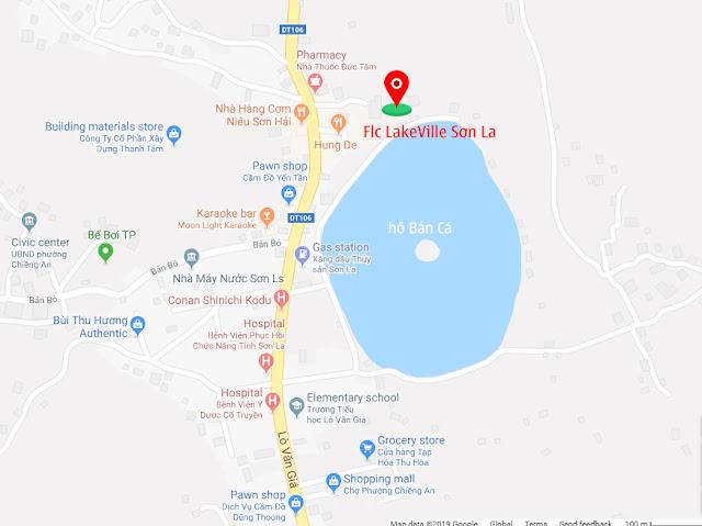 Vị trí dự án Flc LakeVille Sơn La biệt thự liền kề shophouse