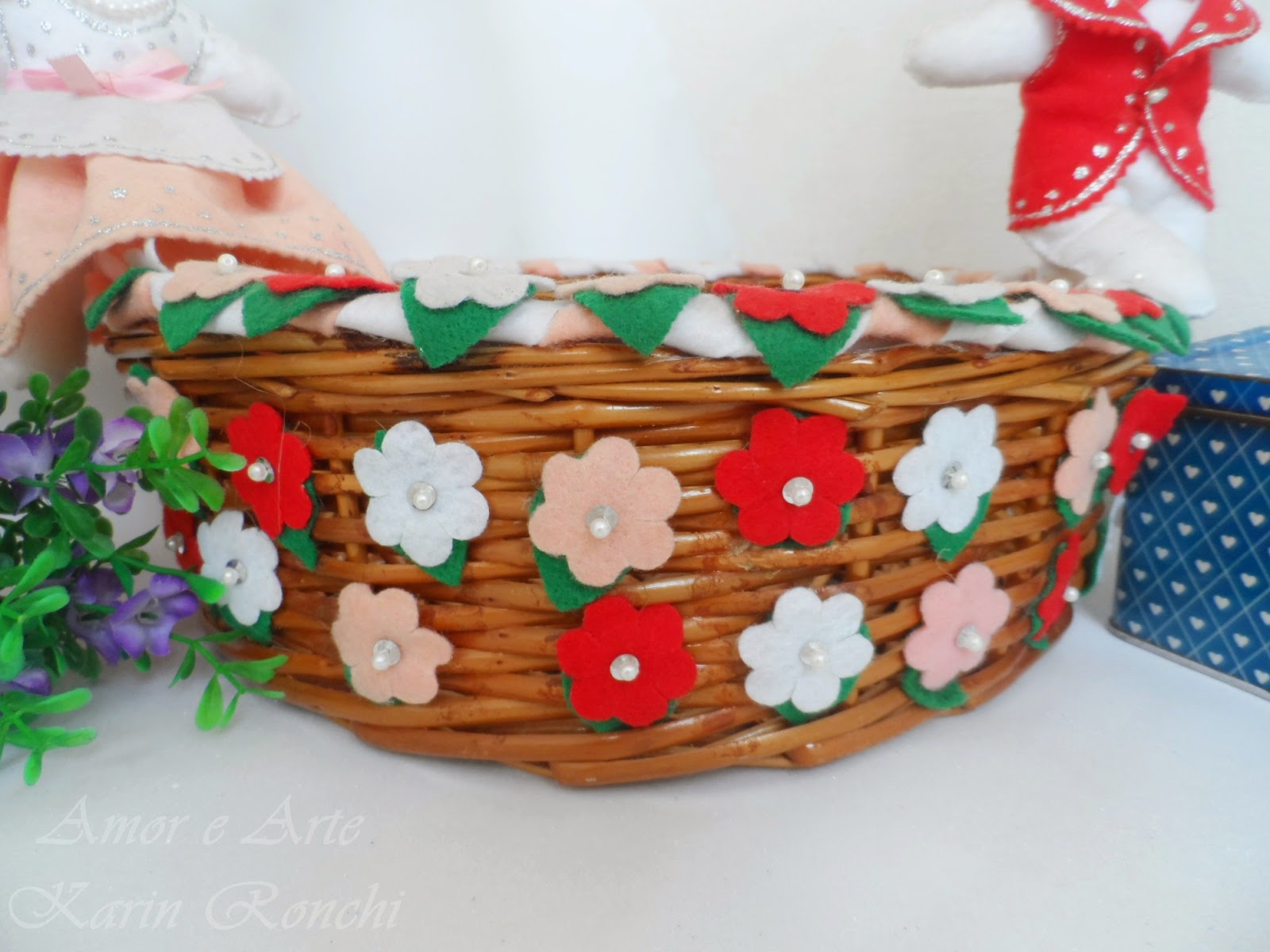 Flores, detalhes da cesta
