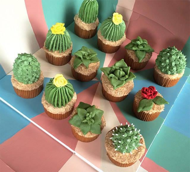 Cakes, DIY House Plant Cupcakes!