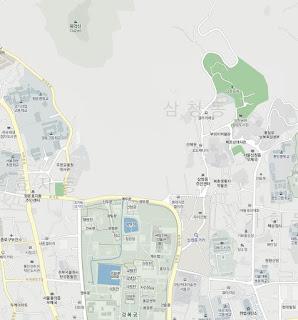 Cheong Wa Dae no existe en el mapa de Daum