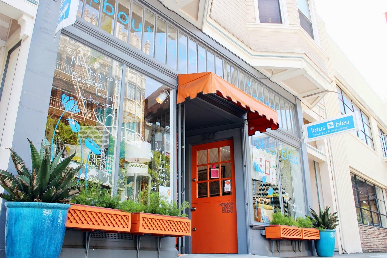 Lotus Bleu San Francisco Hayes Street home furnishings decor shop