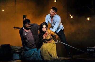 English National Opera - The Pearl Fishers - Robert McPherson, Claudia Boyle, Jacques Imbrailo (c) Robbie Jack