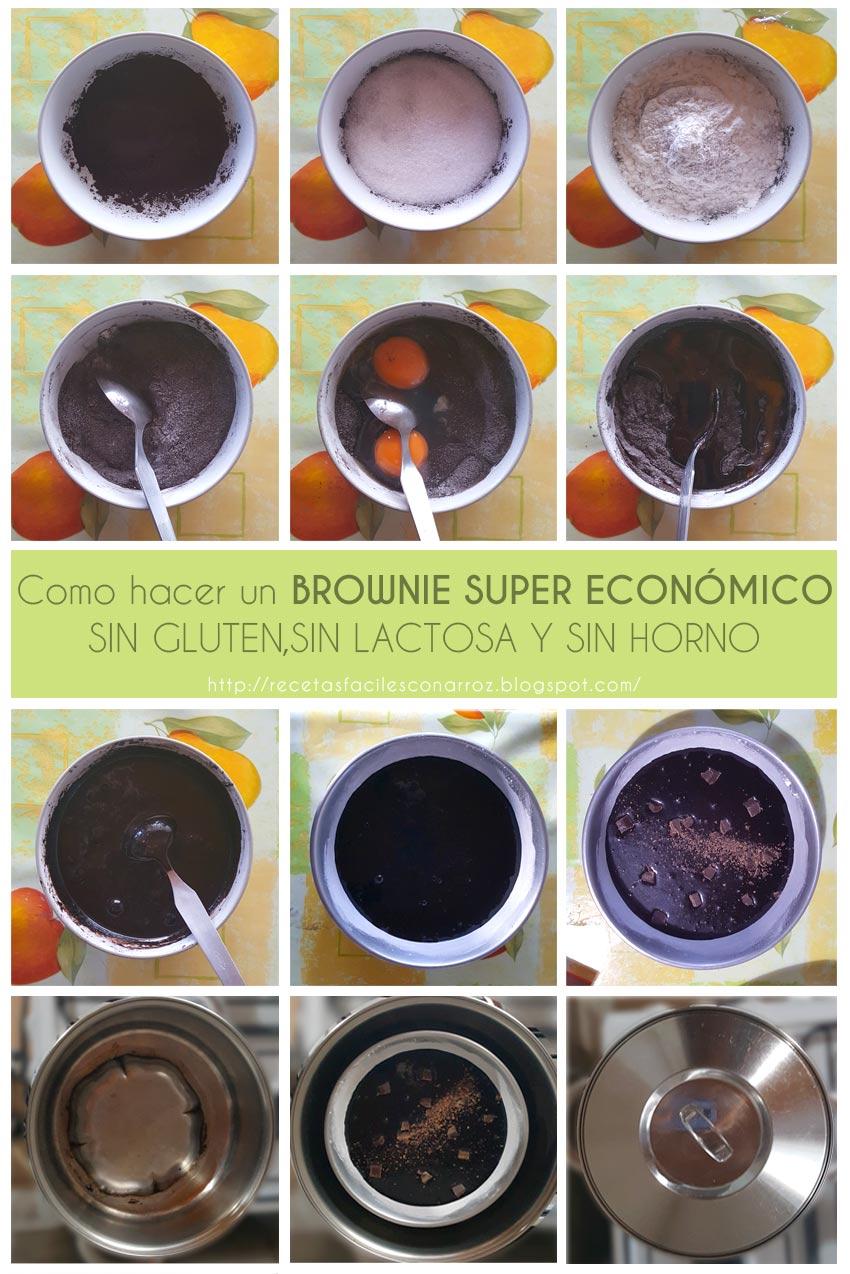 brownie sin gluten fototutorial