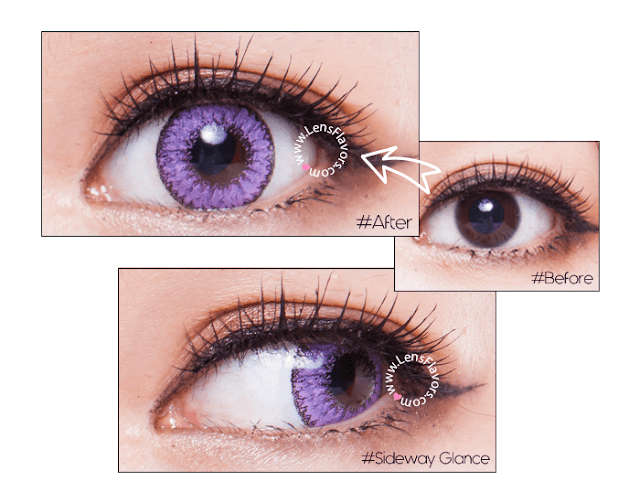 eos fairy violet before after