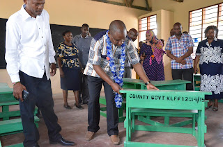 Baraka Mtengo launches a CDF project in Ganda Malindi. PHOTO | Courtesy