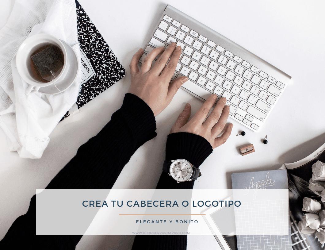 Como diseñar una cabecera o logotipo bonito y minimalista femenino para tu blog