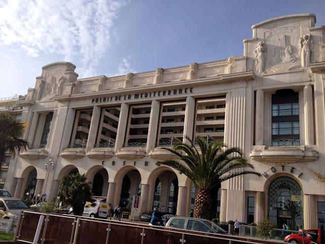 fachada del casino de Niza