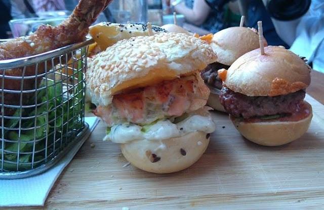 burger, burger saumon, les fils à maman, restaurant, nantes, bullelodie