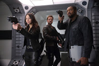 Dark Matter Season 3 Melissa O'Neil, Anthony Lemke and Roger Cross Image (20)