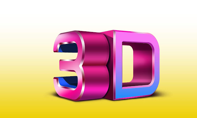 Glossy 3D text | Speed Art | glossy 3d text effect