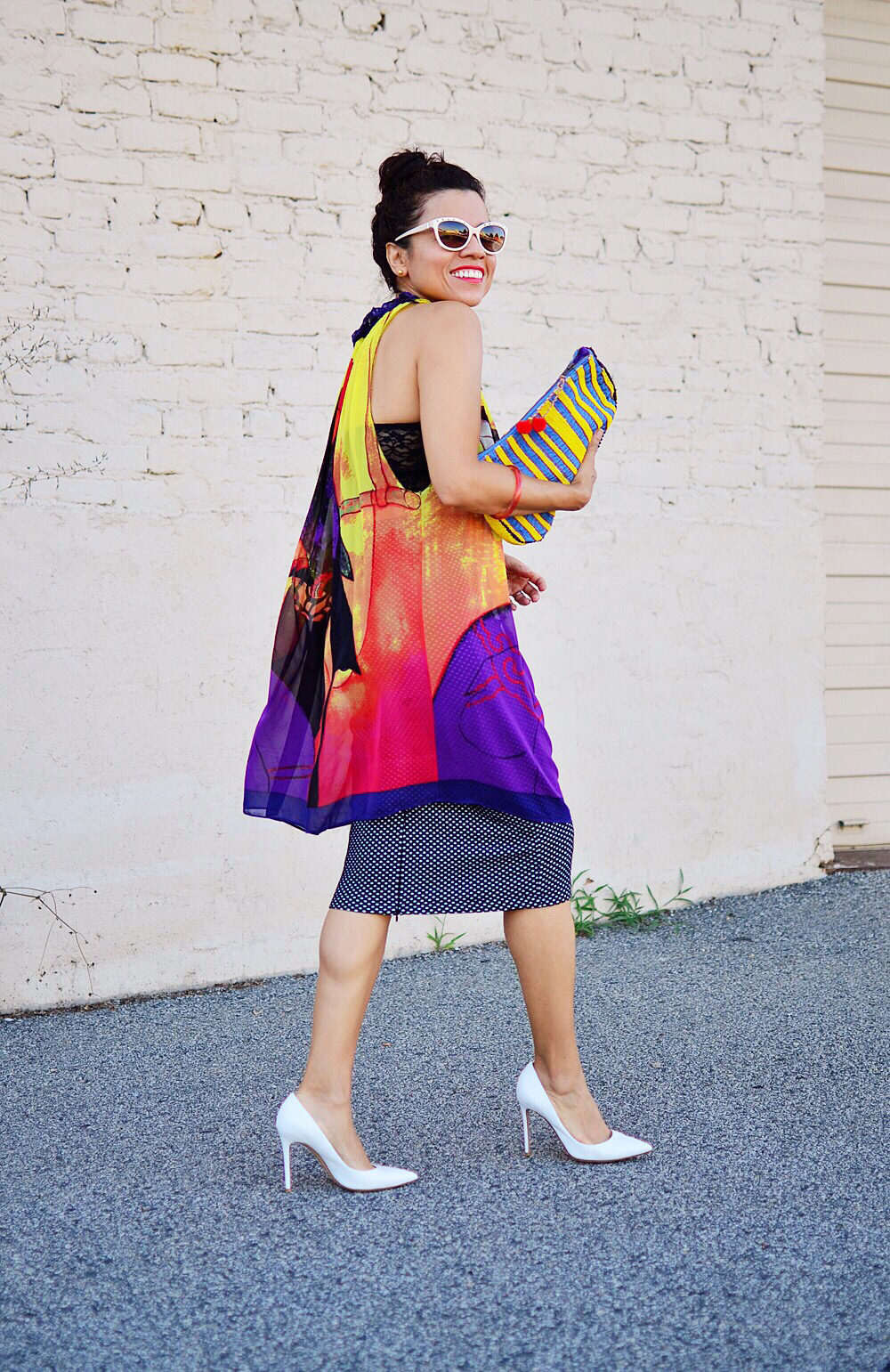 Summer colorful outfit street style