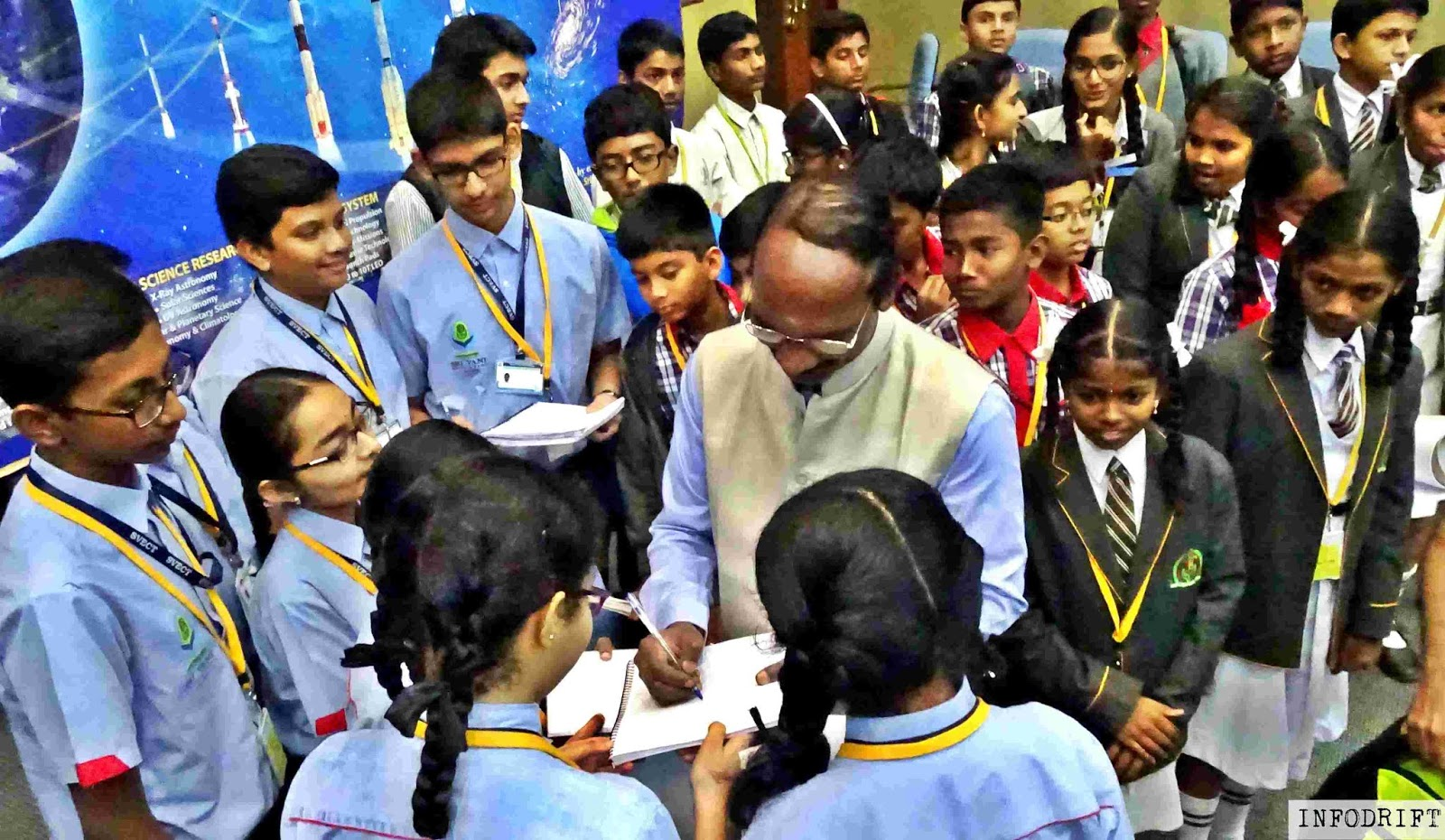 ISRO chairman with students