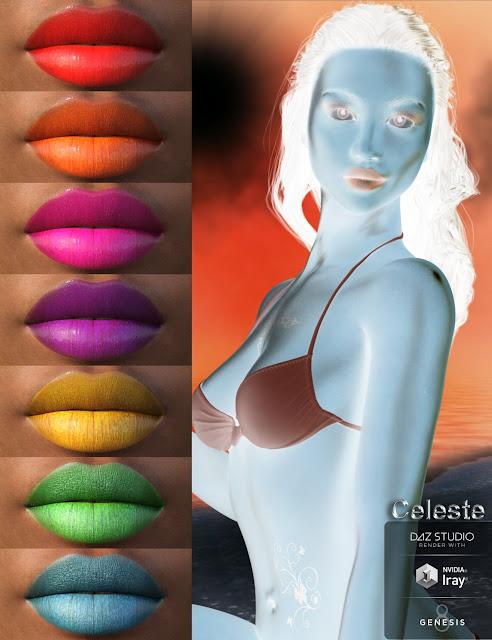 Celeste for Genesis 8 Female