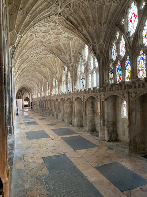 corridor from Harry Potter movie, Gloucester cathedral