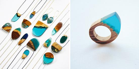 berbagai trend kalung unik dari epoxy resin