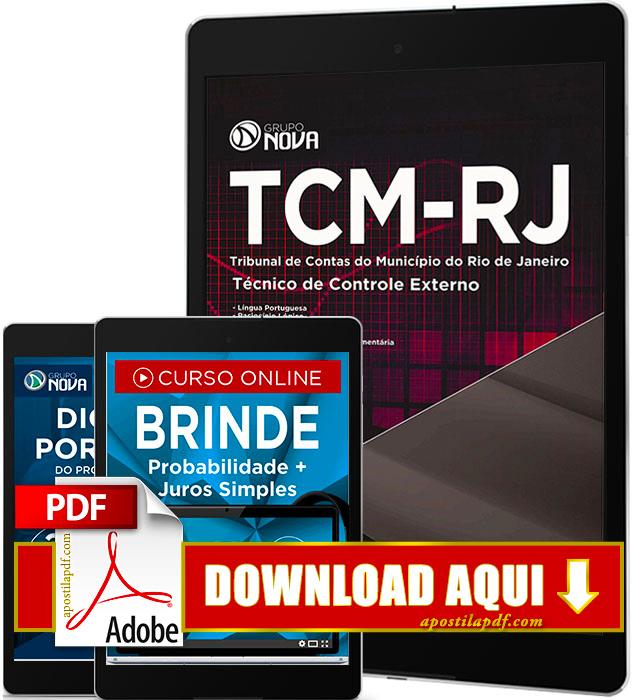 Apostila TCM RJ 2016 PDF Download Técnico de Controle Externo