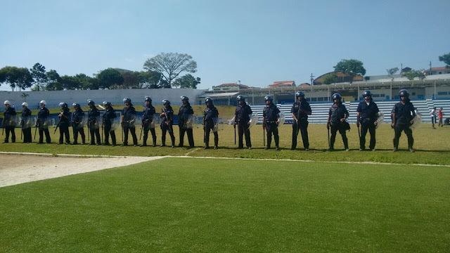 Guarda Civil de Santo André garante a lei e ordem na final da segunda divisão no Estádio Bruno Daniel