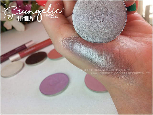 LITHIUM  swatches eyeshadow ombretti packaging Neve cosmetics  recensione, pareri, makeup, consigli, comparazioni