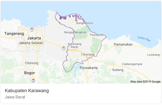Peta Kabupaten Karawang Jawa Barat