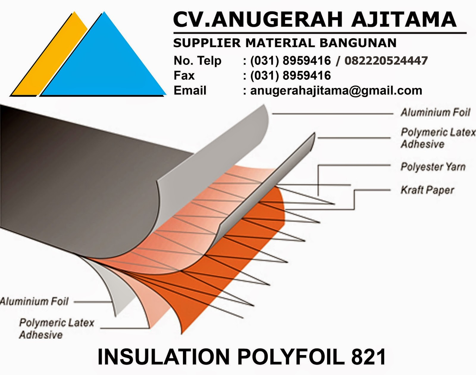 JUAL INSULATION POLYFOIL 821