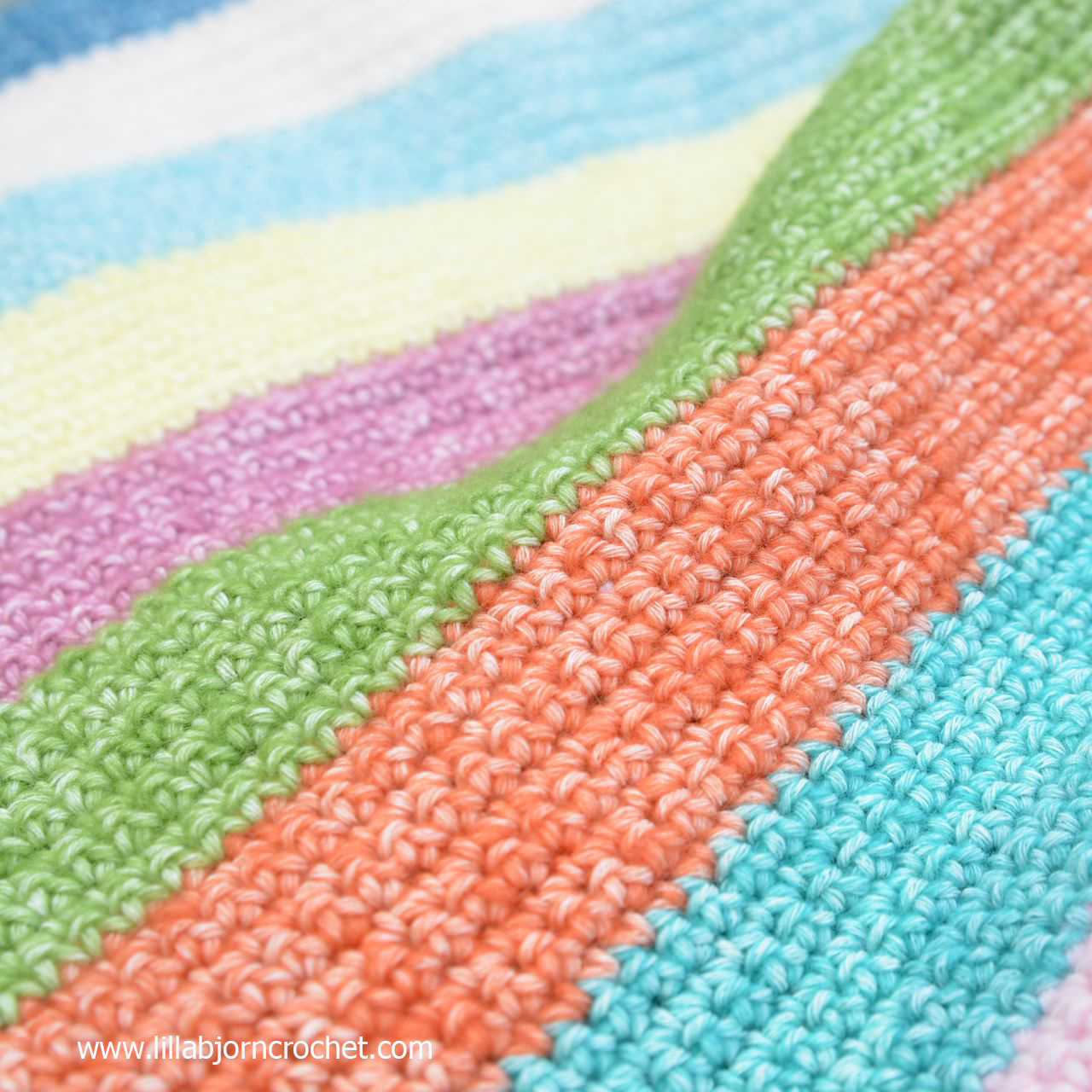 Colorful stripes with Stone Washed yarn by Scheepjes