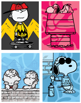 Peanuts Attitude Print Series by David Flores x Dark Hall Mansion