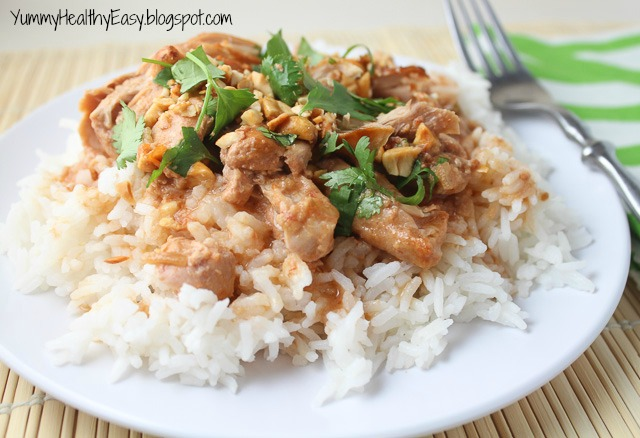 Easy Slow Cooker Thai Chicken