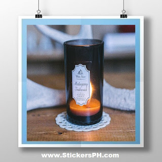 Die-Cut Sticker Label - Scented Candle